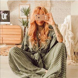 Xix palms kimono shirt